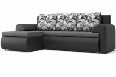Угловой диван Цезарь (левый) серый