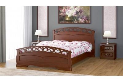 Кровать Грация-1 орех 1600