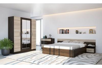 Спальня «Уют» венге/сонома + Шкаф