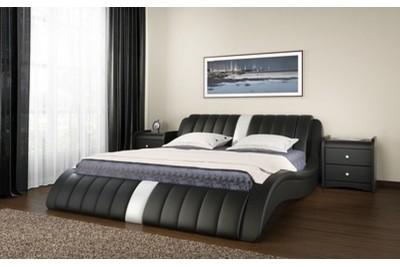 Кровать интерьерная Эмма с подъемным механизмом 1600 экокожа