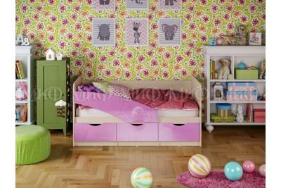 Кровать 1,6 Бабочка - сиреневый металл