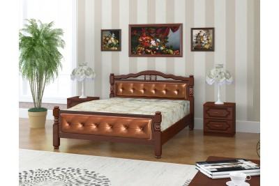 Кровать Карина-11 орех 1600