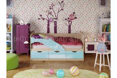 Кровать 2,0 Дельфин-1 - голубой глянец