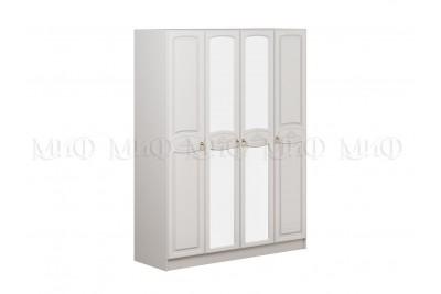 Шкаф 4-ств. Александрина - белый глянец