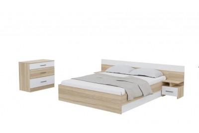 Спальня «Уют» сонома/белый