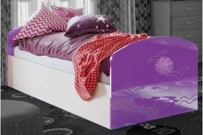 Кровать Юниор-2 - фиолетовый металлик