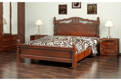 Кровать Карина-15 орех 1400