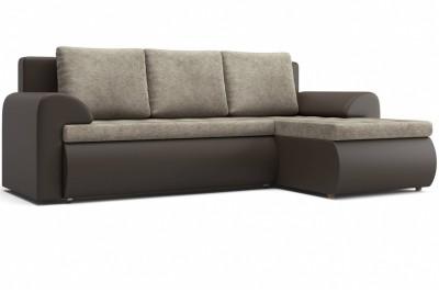 Угловой диван Цезарь (правый) коричневый