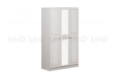 Шкаф 3-ств. Александрина - белый глянец