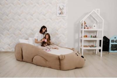 Кровать Sonya Мишка с объемным изголовьем