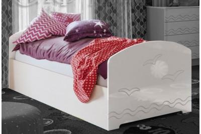 Кровать Юниор-2 - белый глянец