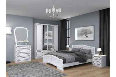 Спальный гарнитур ЛАК белый жемчуг