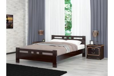 Кровать Вероника-2 орех темный 1600