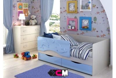 Кровать детская Алиса 1,4 голубой