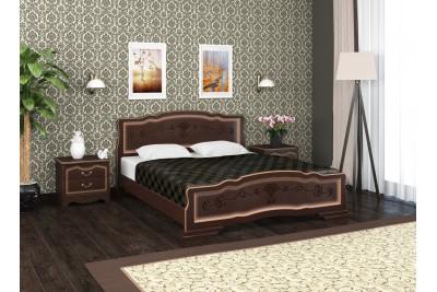 Кровать Карина-6 темный орех 1600