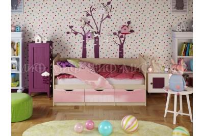 Кровать 2,0 Дельфин-1 - розовый металлик