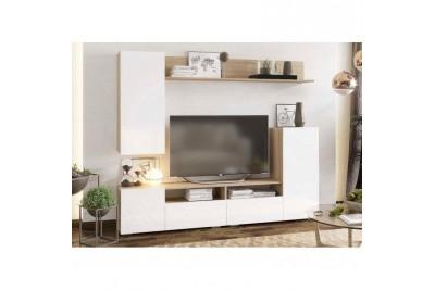 Гостиная Лия 2130 - сонома/белый