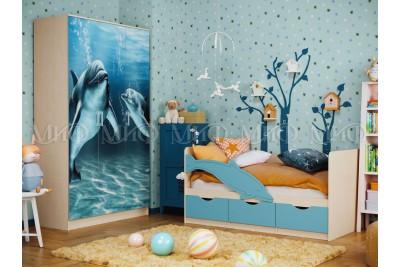 Шкаф 3-ств. Дельфин
