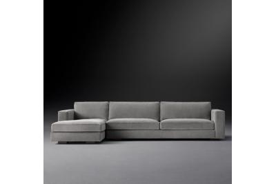Угловой диван Maddox Sctional серого цвета