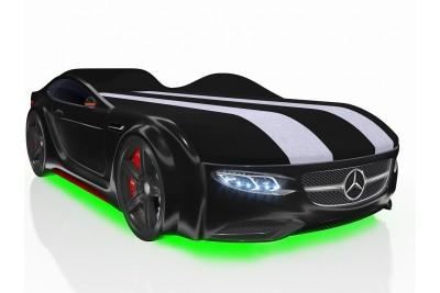 Кровать-машинка Junior черная