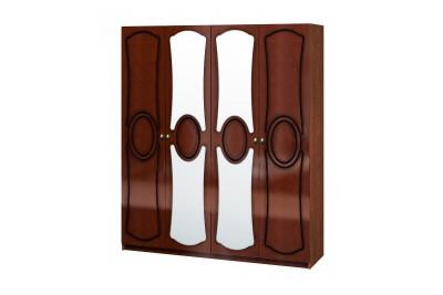 Шкаф распашной с 2-мя зеркалами ШР4 Идиллия орех